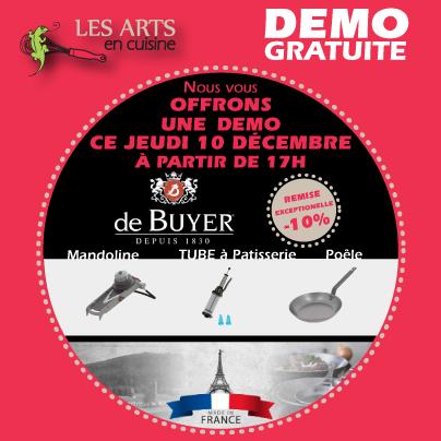 DEMO jeudi 10 décembre - Mandoline Piston à pâtisser casserole minérale ... DE BUYER DEMO jeudi 10 décembre - Mandoline Piston à pâtisser casserole minérale ... DE BUYER