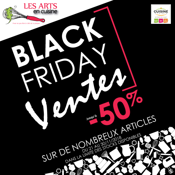 Black Friday Les arts en cuisine Cuisine plaisir Macon